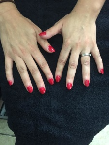 1940's red nails
